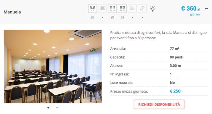 Centro congressi sale meeting cagliari caesars hotel